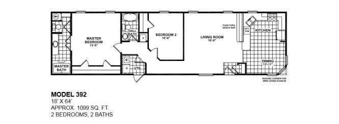 2 bedroom bath mobile home floor plans - bedroom style ideas