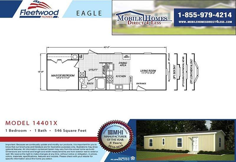 Fleetwood Mobile Homes Floor Plans 2001