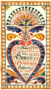 Bookplate by Samuel Godshall, 1834