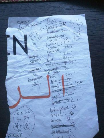 Dahlia's impeccable list-making