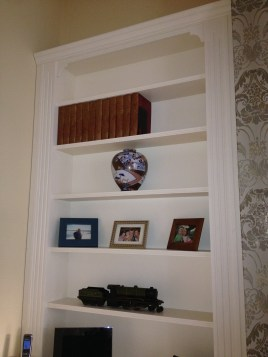 Alcove open shelving