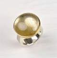 silver and 22ct with rutilated quartz (£580)