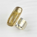 silver, 22ct and finegold with rutilated quartz and diamond (£720)