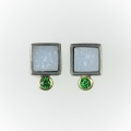 silver and 18ct gold with agate and tsavorite (£390 sold)