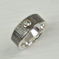 silver and 18ct gold with aquamarine (£290)