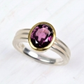 silver and 18ct with rhodolite (£520)