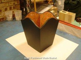 Black Parchment Waste Basket