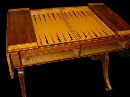 Gold Tooled Calf Skin Inlayed Backgammon