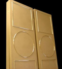 Leather screens with Brass elements