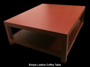 Simple Leather Coffee Table