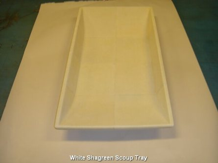 White Shagreen Scoup Tray