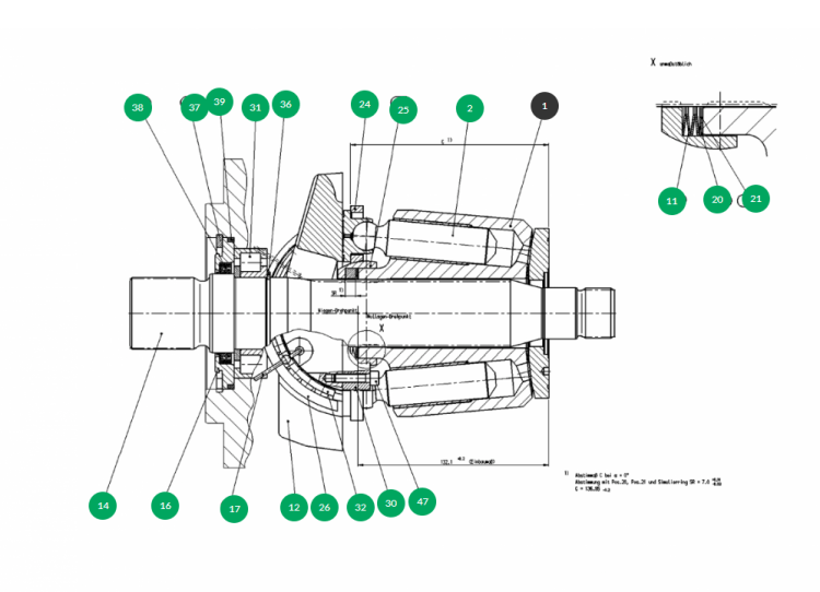 MH Unique way to find hydraulic pump and motor parts quick and easy. Green = in stock in our Netherlands warehouse, orange = inquire delivery time, black = go deeper into the drawing.