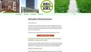 Screenshot der Startseite mit den Häusern des BML in Bonn und Berlin