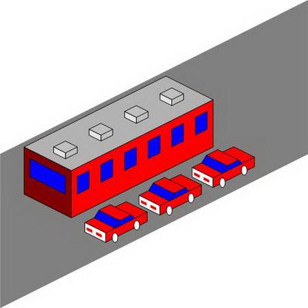 اتوبوس و ماشین