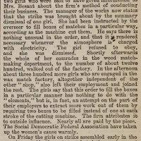 M is for Match Girl Strike of 1888 #atozchallenge @aprila2z