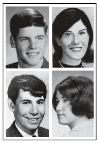 The victims are shown in this photo, clockwise from top left: William Schroeder, Allison Krause, Sandra Lee Scheuer, and Jeffrey Miller. Nine others were wounded.