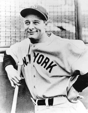"Lou Gehrig, or Henry Louis Gehrig, was actually born Ludwig Heinrich Gehrig in 1903. He later became known as ""The Iron Horse"", setting many Major League Records"