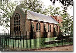 The House of Burgesses, the first legislative assembly in the American colonies, held its first meeting in the choir at Jamestown Church in the summer of 1619. Its first order of business: setting a minimum price for the sale of tobacco.