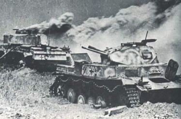 Battle of Kursk. • It is estimated that by the end of the battle around 350 German tanks were destroyed.