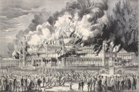 One of the most famous fires in all of New York history -- the destruction of the legendary Crystal Palace exhibition hall 1858