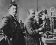 The Asscher brothers at their Amsterdam workshop