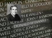 Donald Evans on the Vietnam War Memorial