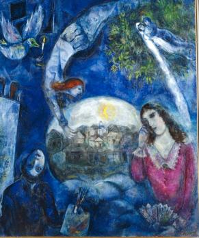 Around Her, Marc Chagall 1945