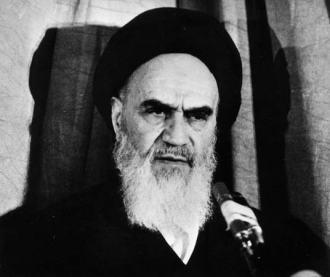 Revolutionary leader Ayatollah Ruhollah Khomeini