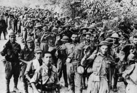 Surrender of U.S. forces at the Malinta Tunnel May 6, 1942 (photo courtesy of www.ffemagazine.com). The Corregidor Flag