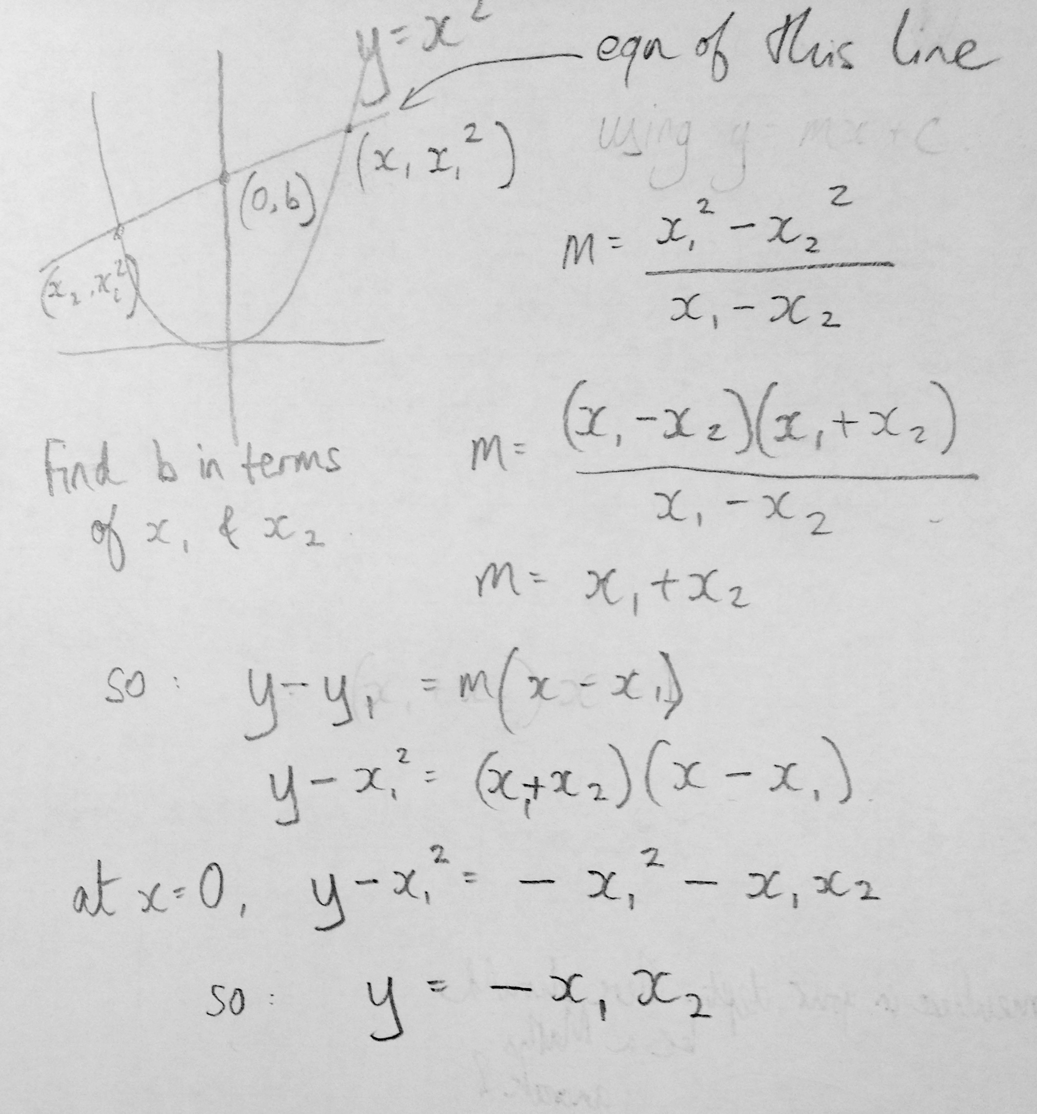 Using A Quadratic And A Straight Line To Do Simple Multiplication