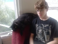 Ben Sherwin and his cat