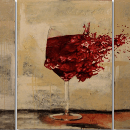 La romance du vin (3 x 122 x 91 cm)