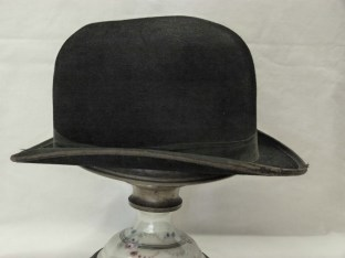 Men's Bowler Hat. Purchased from Farmers for Mr Ernest Newton in 1938