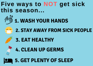 Above is five ways to avoid getting sick during this winter.