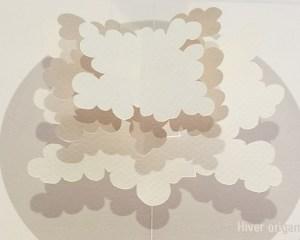 """Carte pop-up Arbre cèdre """"Hiver"""", détail de l'arbre"""