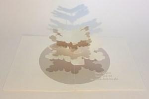 "Carte pop-up Arbre cèdre ""Hiver"", vue de profil"