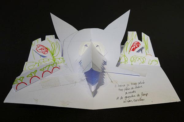 """Projet de livre """"Variation pour un loup et un jardin potager"""", maquette réalisée, page 2"""