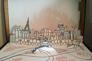Valise d'artiste, version 2, page Paris-Ardèche, détail