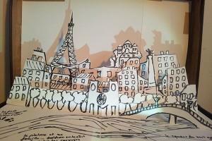 Valise d'artiste, version 2, page Paris, détail