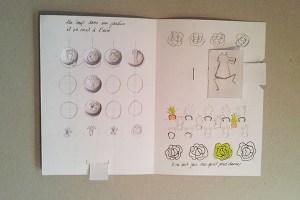 """Maquette projet de livre """"Variation pour un loup et un jardin potager"""", page 1 dessus position 2"""
