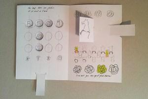 """Maquette projet de livre """"Variation pour un loup et un jardin potager"""", page 1 dessus position 1"""