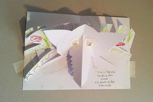 """Maquette projet de livre """"Variation pour un loup et un jardin potager"""", page 2 dessus"""