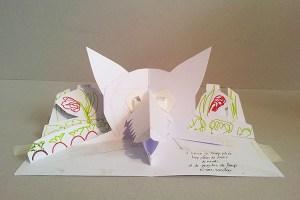 """Maquette projet de livre """"Variation pour un loup et un jardin potager"""", page 2 face"""