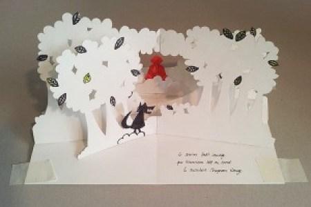"""Maquette projet de livre """"Variation pour un loup et un jardin potager"""", page 5 face"""