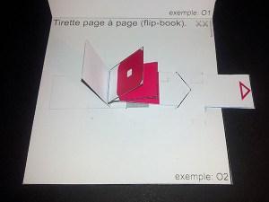 "Fiche technique Michel Ferrier, ""flip book"", Institut du Pop-up"