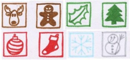 Dessins préparatoires pour tampons, cartes de voeux 2016 motifs Noël