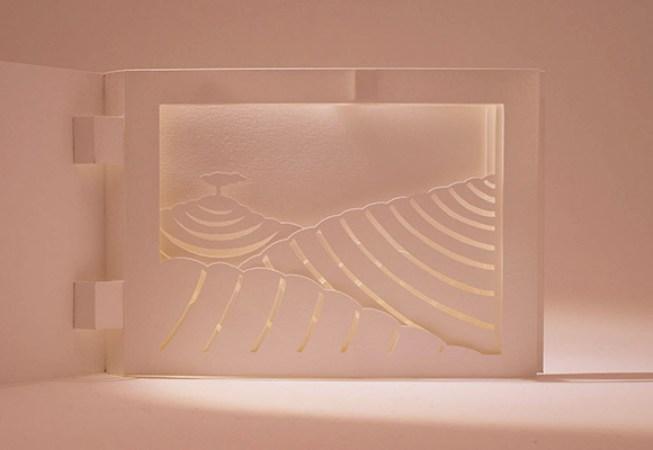 Diorama Plantations de thé, Chine, détail avec éclairage
