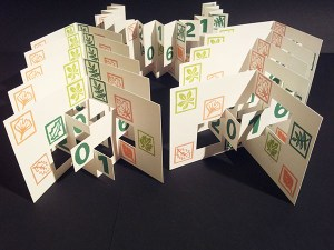 Mise en production cartes Voeux 2016 en kirigami, motifs imprimés Arboriculture