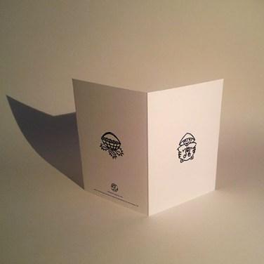 """Rencontre attendue, modèle """"Petit Chaperon et loup"""", version à colorier, dos carte support"""