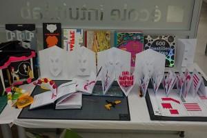 Livres présentés et fiches techniques conçues par Michel Ferrier, formation pop-up, intuit lab Paris du 18 au 20 avril 2016